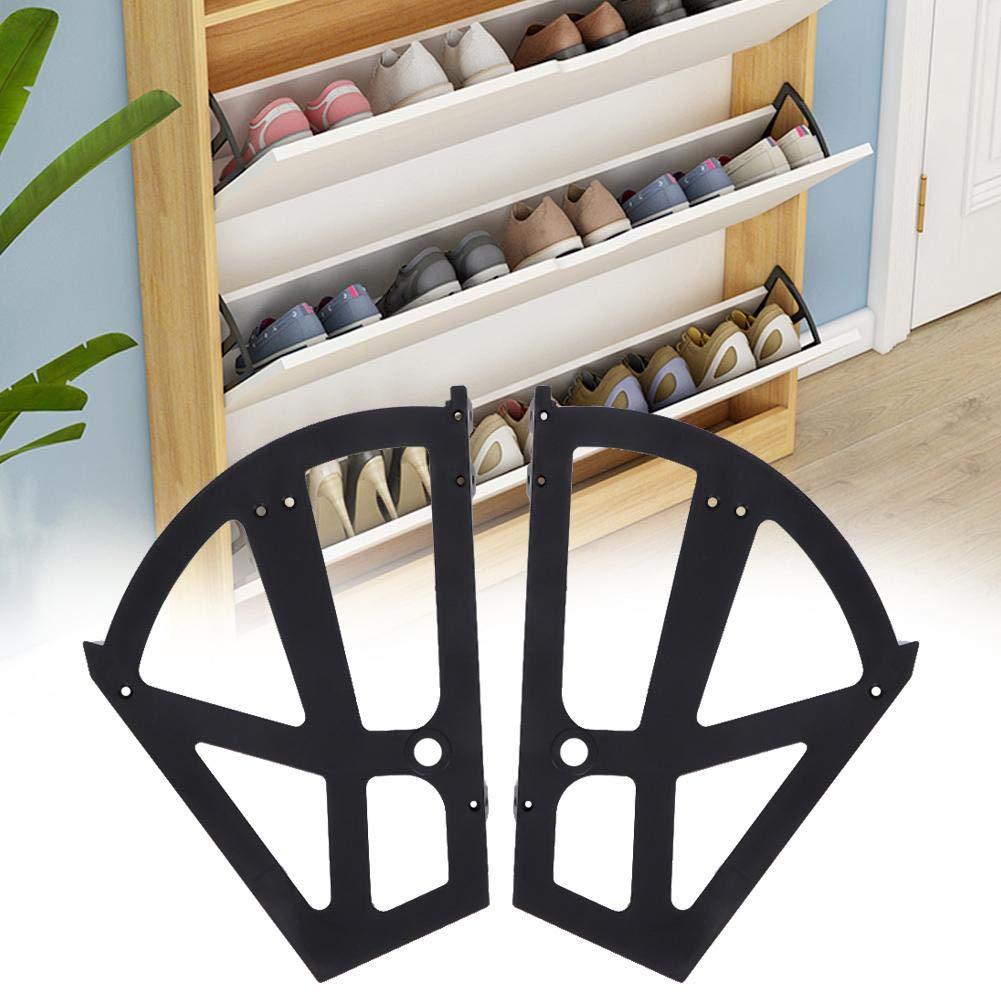 AUNMAS Bisagra para gabinete de Zapatos Pl/ástico Hueco Simple Dos Capas Accesorio de Soporte para Estante de Estante para el hogar 2#