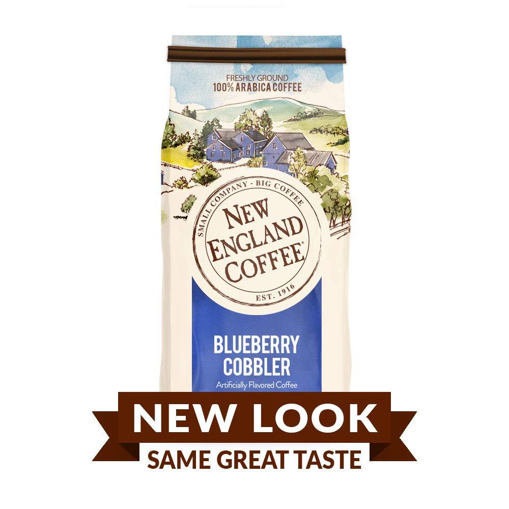 New England Coffee Blueberry Cobbler, Medium Roast Ground Coffee, 11 Ounce Bag by New England Coffee (Image #1)