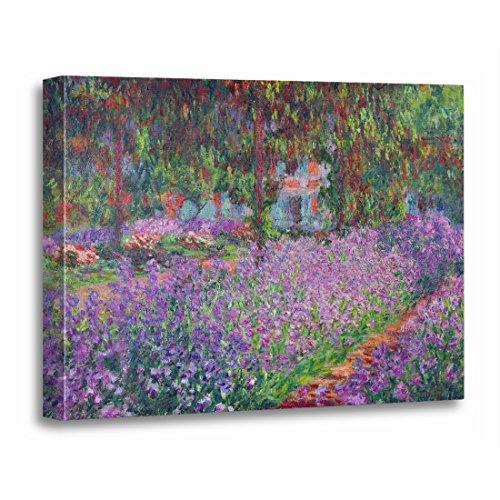 TORASS Canvas Wall Art Print 1900 Claude Monet the Artist's Garden at Landscape Artwork for Home Decor 12