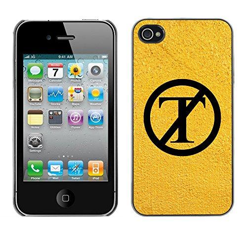 Print Motif Coque de protection Case Cover // Q04130501 NON Trump sable jaune // Apple iPhone 4 4S 4G