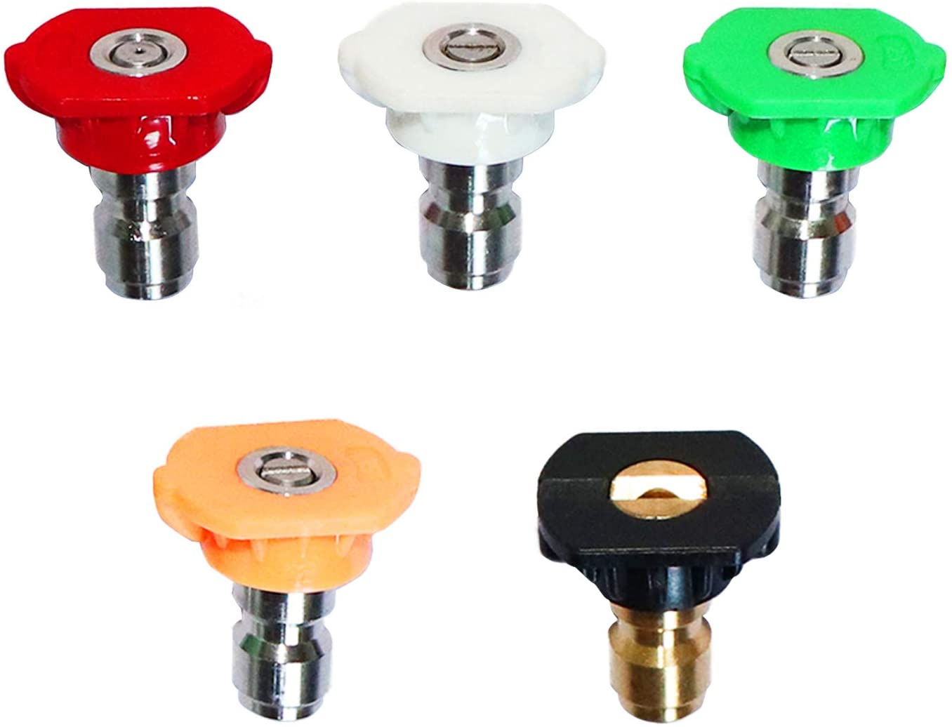9 Accessories Pieces Pressure Washer Nozzle Tips Set Quick Connector Pivoting 5