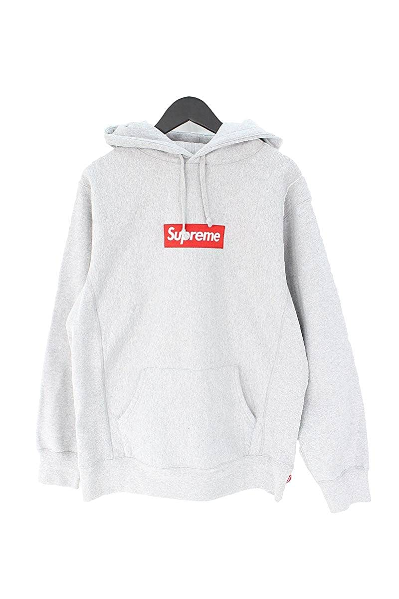 (シュプリーム)SUPREME 【16AW】【Box Logo Hooded Sweatshirt】ボックスロゴフーデッドスウェットパーカー(L/グレー) 中古 B07C8JK7ZB