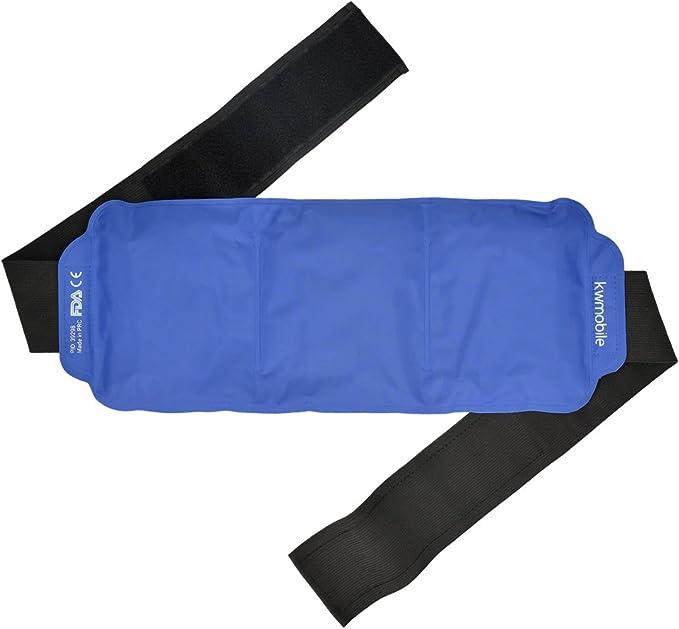 kwmobile Compresa de gel frío y caliente - Reutilizable y universal - Gel frío para lesiones de espalda hombro brazo riñones lumbares y rodilla: Amazon.es: Bebé