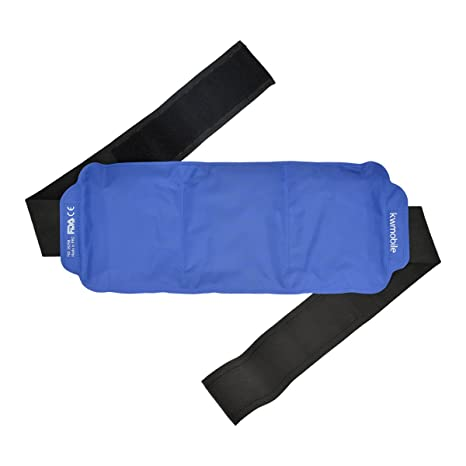 kwmobile Compresa de gel frío y caliente - Reutilizable y universal - Gel frío para lesiones de espalda hombro brazo riñones lumbares y rodilla