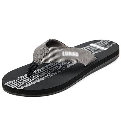 Männer Sommer Flip Flops Offene Zehe Gummi Thong Sandalen Pool  Atmungsaktive Rutschfeste Strand Schuhe  Amazon.de  Bekleidung 1e97efdcdd