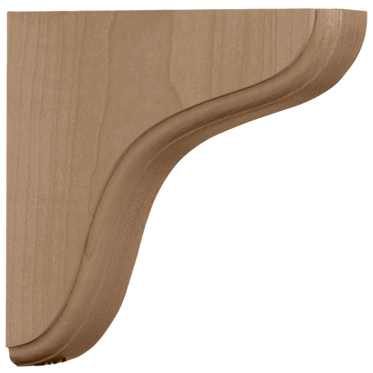 , 4-Pack Ekena Millwork BKTW02X08X08EARO-CASE-4 1 3//4 inch W x 7 1//2 inch D x 7 1//2 inch H Eaton Wood Bracket Red Oak