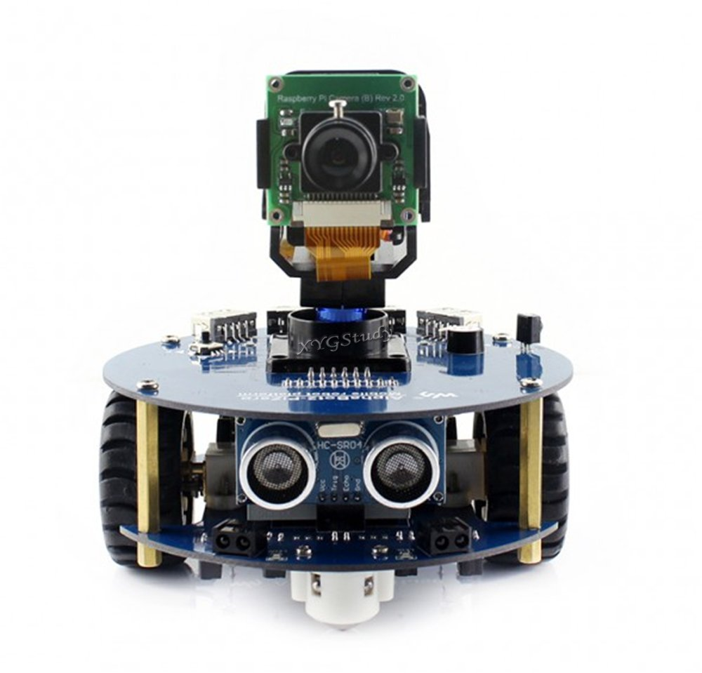 NEW AlphaBot2 Building Robot with Raspberry Pi Zero W and Camera Ultrasonic sensor IR remote Controller 16GB SD Card-Complete Starter Kit @XYGStudy