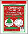 "dobar Holiday Essentials Christmas Tree Removal Bag - New & Improved !! - Heavier Duty 4 Mil Thickness Poly Bag - Waterproof - 144"" x 90"" Height - Fits up to 7 ft Tree"