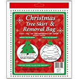dobar Holiday Essentials Christmas Tree Removal Bag - New & Improved !! - Heavier Duty 4 Mil Thickness Poly Bag - Waterproof