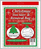 """Holiday Essentials Christmas Tree Removal Bag - NEW & IMPROVED !! - Heavier Duty 4 Mil Thickness Poly Bag - Waterproof - 144"""" x 90"""" Height - Fits up to 7 ft Tree"""