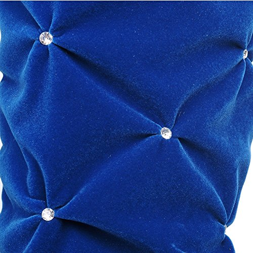 HiTime Botas plisadas de Ante Mujer Azul