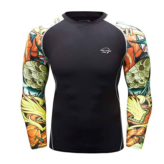Amazon.com: Athletic T-Shirt for Men Exercise Gym Breathable ...
