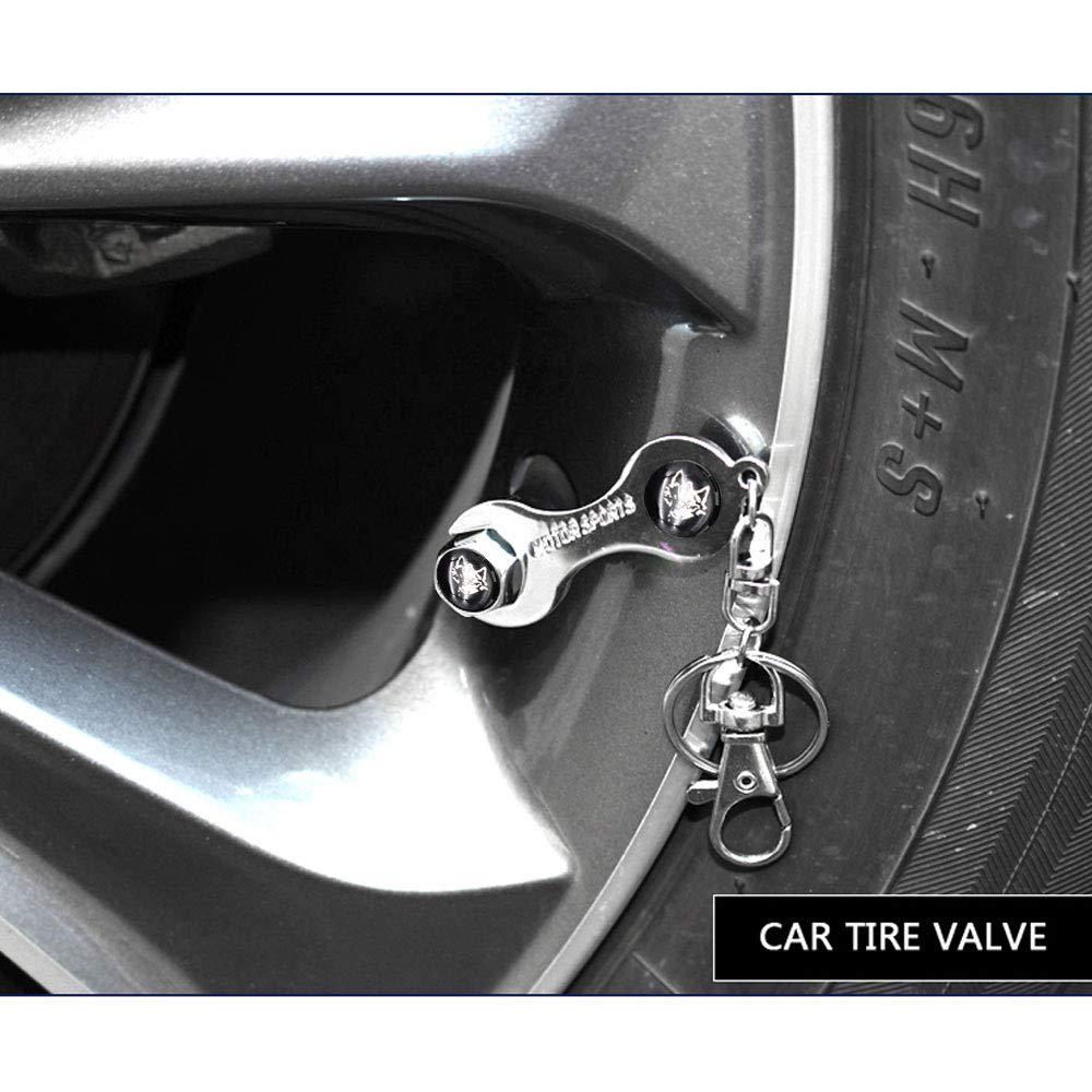HIGGER 4 Pezzi//Set Car Bike Moto Pneumatici Tappo della valvola della Gomma del Pneumatico Tappo della valvola Caps Copertura Antipolvere Car Styling
