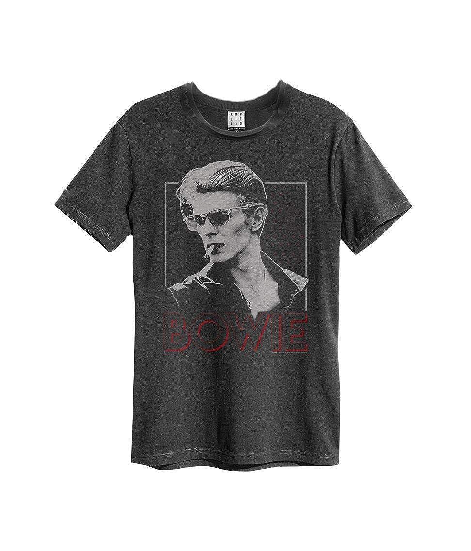 David Bowie 80s Era Smoking T-Shirt Amplified Clothing Charcoal