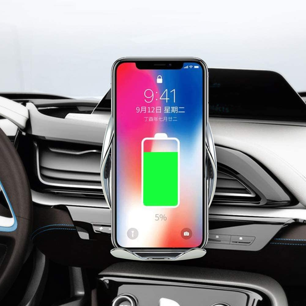 Wireless Car Charger,10W Qi Fast Charging Auto-Clamping Car Mount Charger Phone Holder Compatible iPhone SE// 11//11 Pro//11 Pro Max//Xs MAX//XS//XR//X//8//8+,Samsung S10//S10+//S9//S9+//S8//S8+