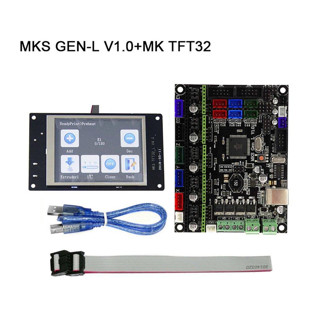 ROKOO MKS GEN-L V1.0 Main Board + MK TFT28/TFT32 Fulltouch Screen + USB Cable 3D Printer Parts 1pq4mv0ft2zj6zy2D01