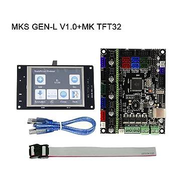 Majome Placa Principal MKS Gen-L V1.0 + MK TFT28/TFT32 ...