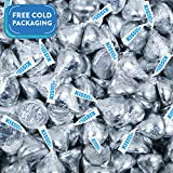 Hershey's Kisses Candy with Silver Foil Silver 25lb case
