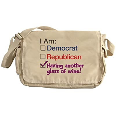 CafePress - I Am Having Another Glass Of Wine - Unique Messenger Bag, Canvas Courier Bag low-cost