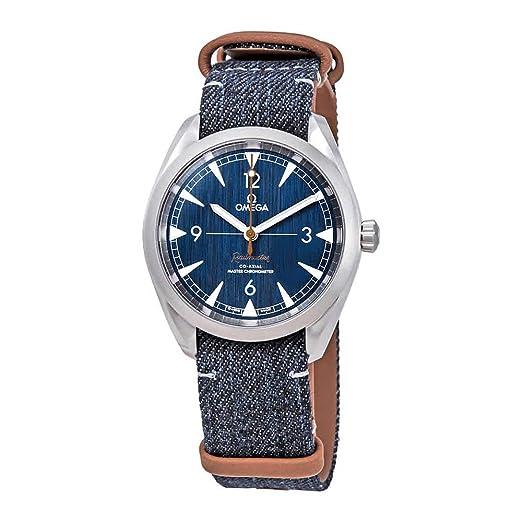 Omega Railmaster 220.12.40.20.03.001 - Reloj automático para Hombre, Esfera Azul Vaquera: Amazon.es: Relojes