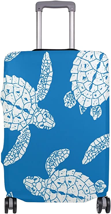 Elastic Travel Luggage Cover Ocean Turtles Suitcase Protector for 18-20 Inch Luggage