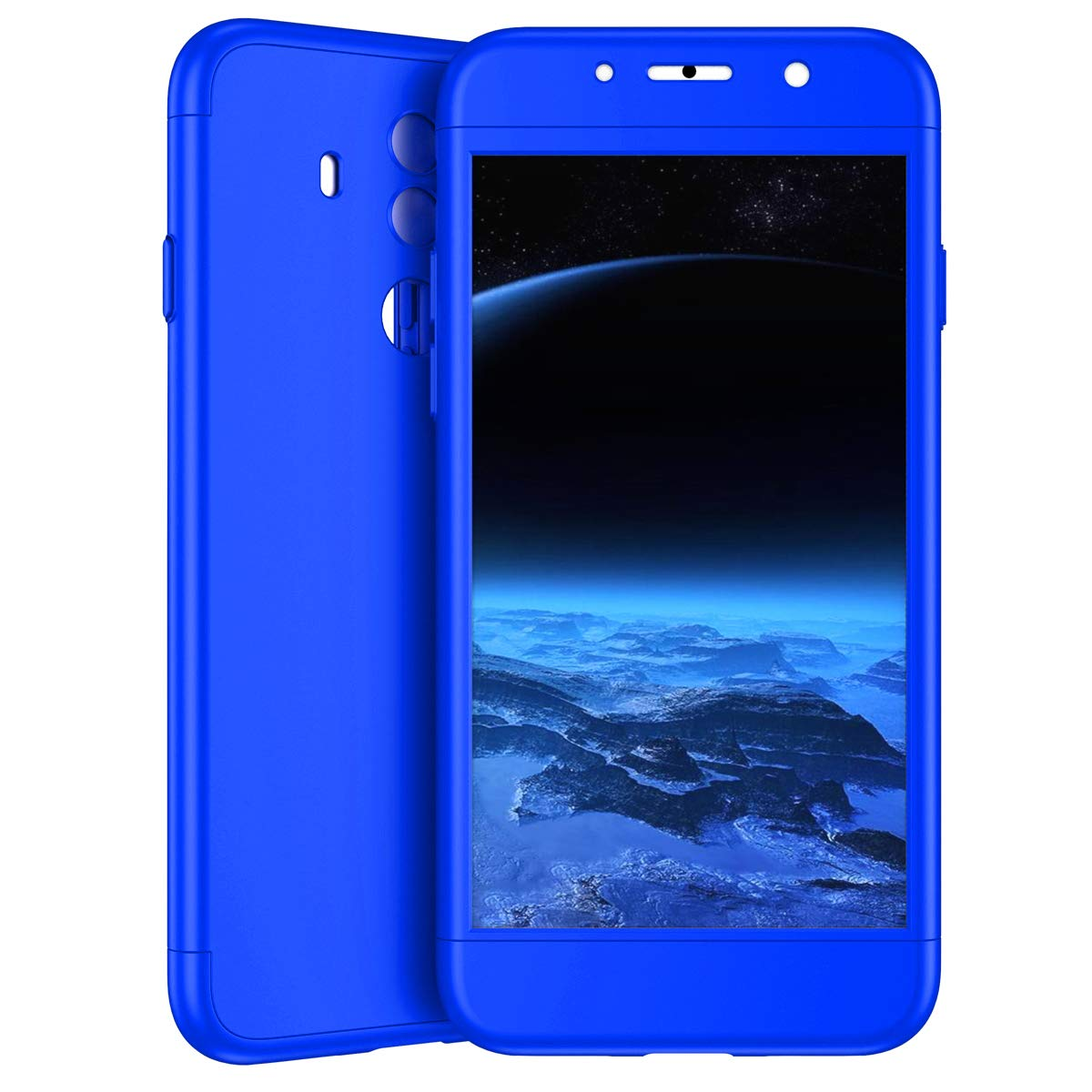 Surakey Compatible avec Coque Huawei Mate 10 Pro Etui Verre Tremp/é,Coque int/égrale Full Body 360 degr/és compl/ète Protecteur Anti-Rayures PC Hard Housse Hybride Etui Pour Huawei Mate 10 Pro,Argent Noir
