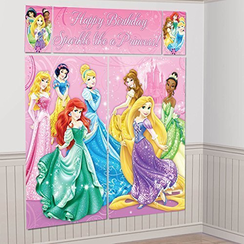 Nickelodeon Disney Princess Scene Setters Wall Banner Decorating Kit Birthday Party Supplies