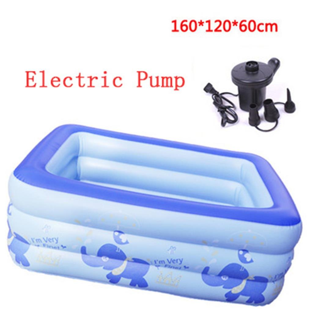 LQQGXL,Bath Inflatable bathroom pool, thick insulated baby pool bathroom with plastic folding tub Inflatable bathtub ( Color : Electric Pump , Size : 16012060cm )