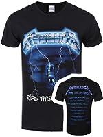 Metallica Men's Ride The Lightening Tracks T-shirt Black