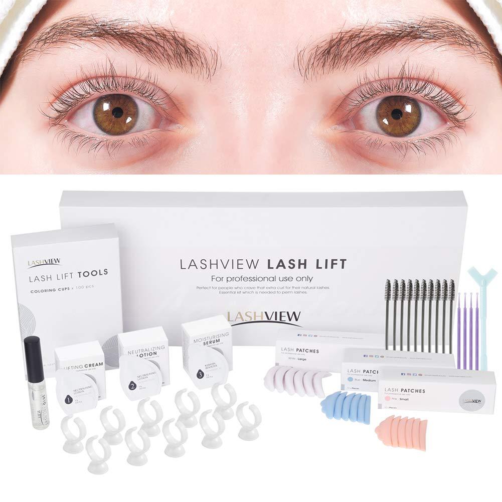 LASHVIEW Lash Lift Kit,Professional Eyelash Perm Kit,Liquid Set,Semi-Permanent,Curling Perming,Wave Lift Extension Perm Set