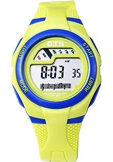 OTS - Reloj Digital Deportivo con Alarma Impermeable Luminoso de Cuarzo Cronómetro para…