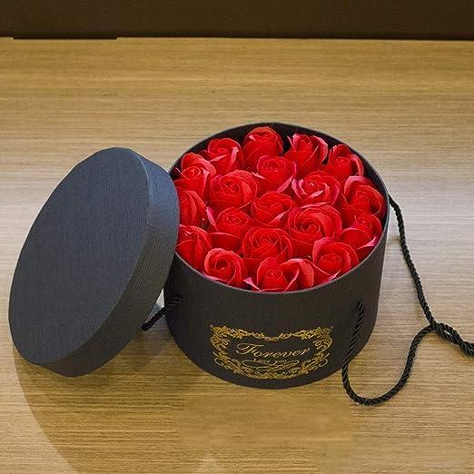 Yuhualiyi123 Regalo de Flores de San Valentín 19 Rosas de jabón ...