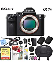$969 Get Sony a7 II Full-Frame Alpha Mirrorless Digital Camera 24MP (Black) Body Only a7II ILCE-7M2 with Extra Battery Case Memory Card Deluxe Pro Bundle