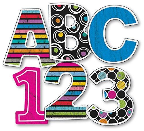 Carson Dellosa Colorful Chalkboard, EZ Letters (130060) -