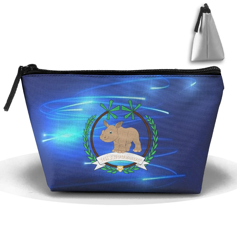 Fengyaojianzhu Rhinoceros Portable Make-up Receive Bag Storage Capacity Bags For Travel Hanging Zipper