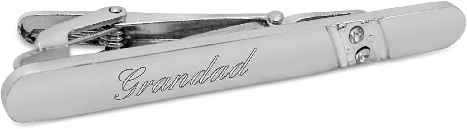 Ideal Gift A11 Luxury Engraved Gifts UK Mens Grandad Tie Clip//Pin Personalised With Up To 30 Letters