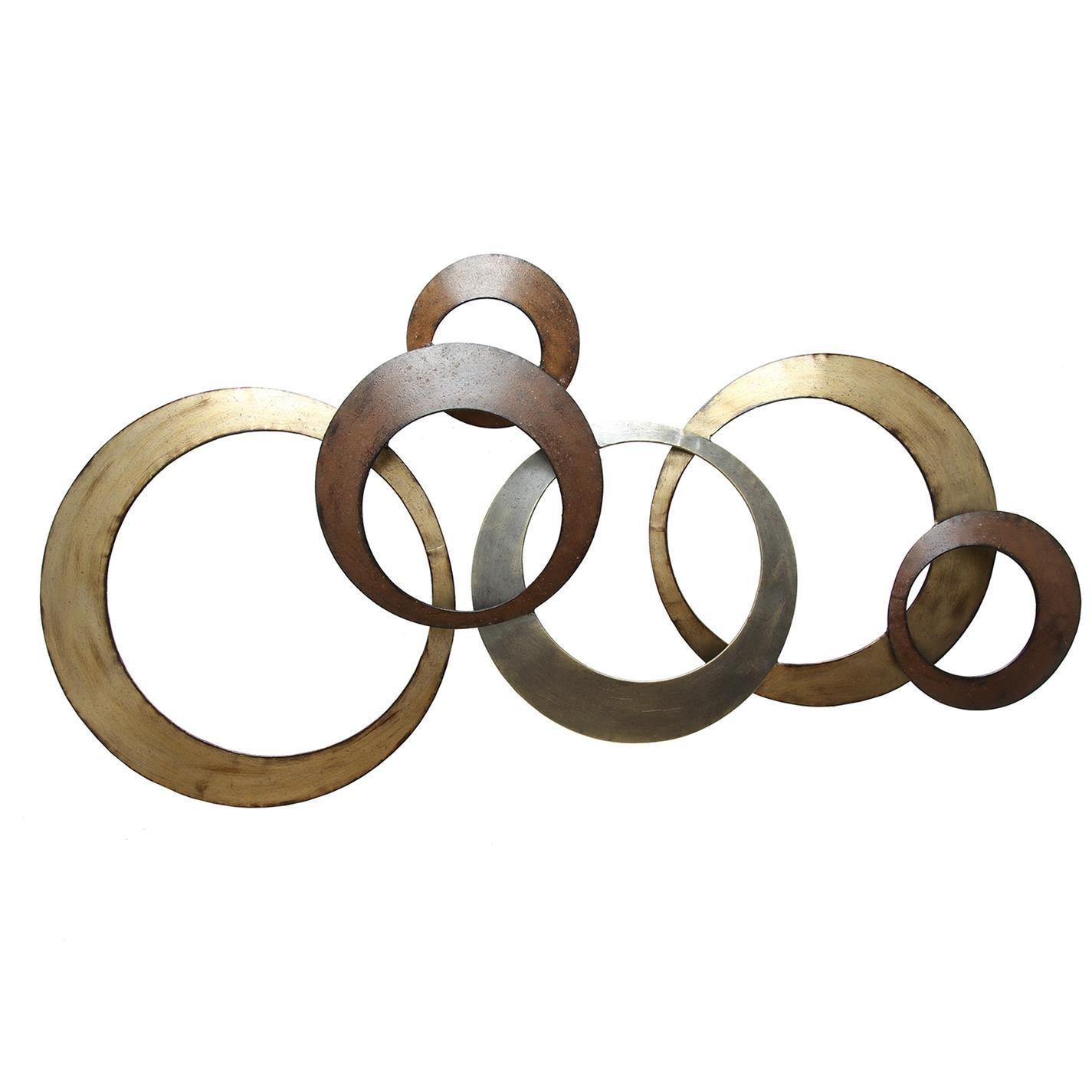 Amazon.com: Stratton Home Decor SPC 999 Interlocking Circles Metal ...