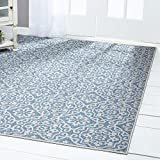Home Dynamix Patio-Country-5ftx7ft-6681-340 Nicole Miller Patio Country Danica Indoor/Outdoor Area Rug, 5'2'' x7'2, Modern Ikat Blue/Gray