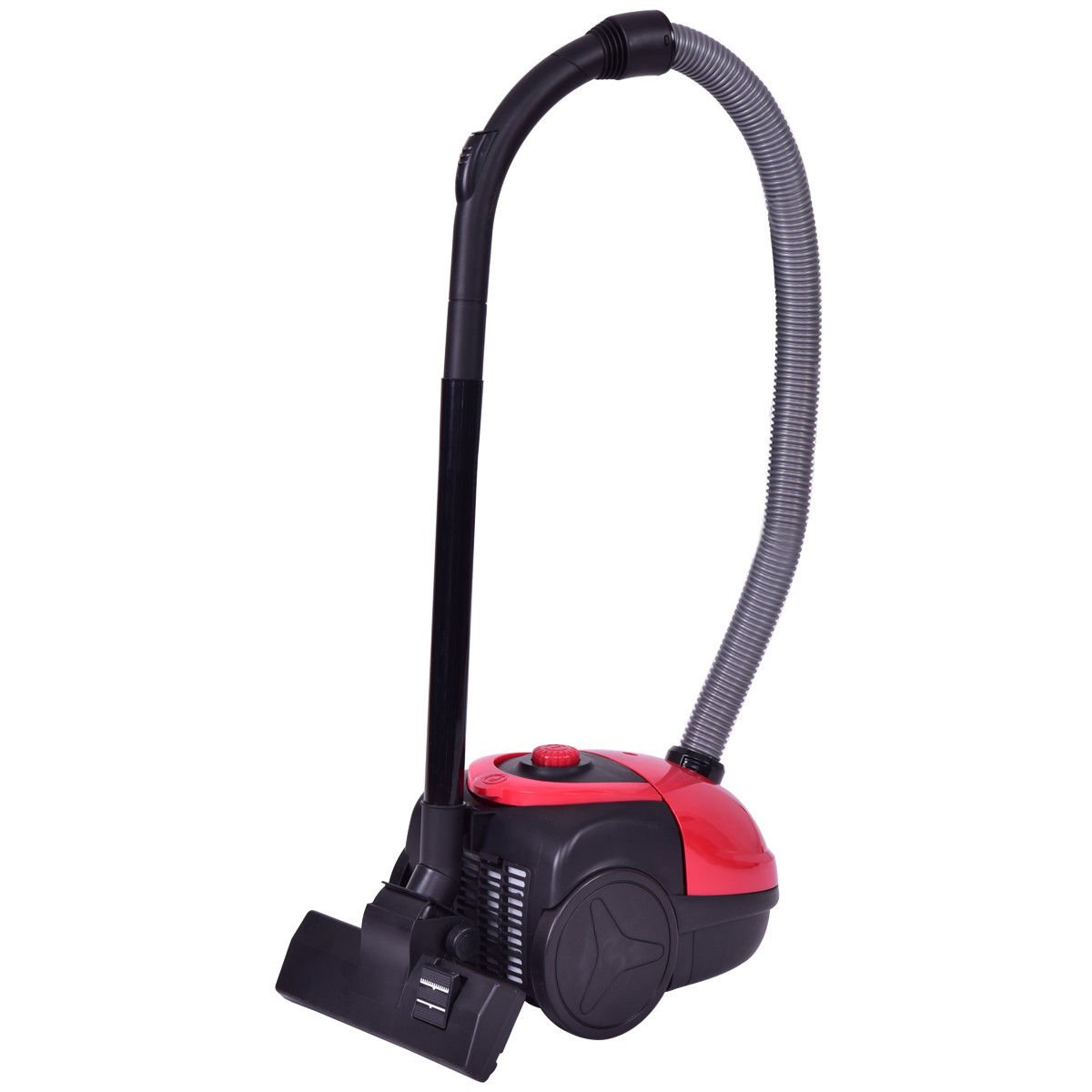 KCHEX>>>Vacuum Cleaner Canister Bagged Cord Rewind Carpet Hard Floor w Washable Filter>This is Our Upgraded Canister Vacuum. Powered by 1200-Watts, This Portable and Compact Vacuum Offers