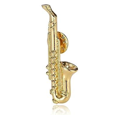 adisaer Hombre Broche Acero Inoxidable Oro Saxofón Broches ...