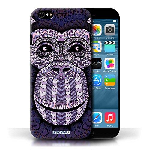 Etui / Coque pour Apple iPhone 6/6S / Singe-Pourpre conception / Collection de Motif Animaux Aztec
