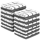 Royal Kitchen Towels, 24 Pack - 100% Soft Cotton -15'' x 25'' - Dobby Weave -Great for Cooking in Kitchen and Household Cleaning (24-Pack Cotton)