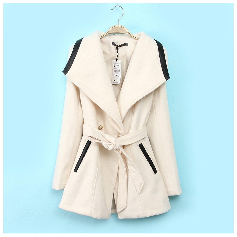 Kize Women Overcoat Long Trench Coat Outerwear plus size