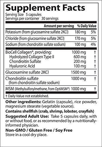 Amazon.com: Glucosamina, Condroitina Y Colageno Con Acido Hialuronico Y MSM - Para Las Articulaciones - 150 Cápsulas: Health & Personal Care