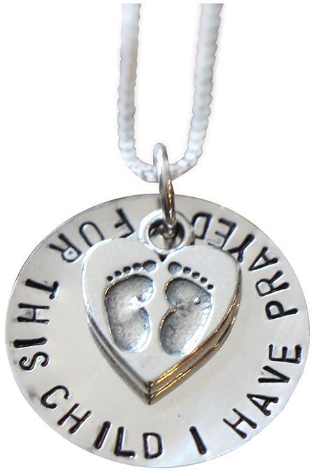 Amazon.com: Para este niño I Have oró Collar – plata de ley ...