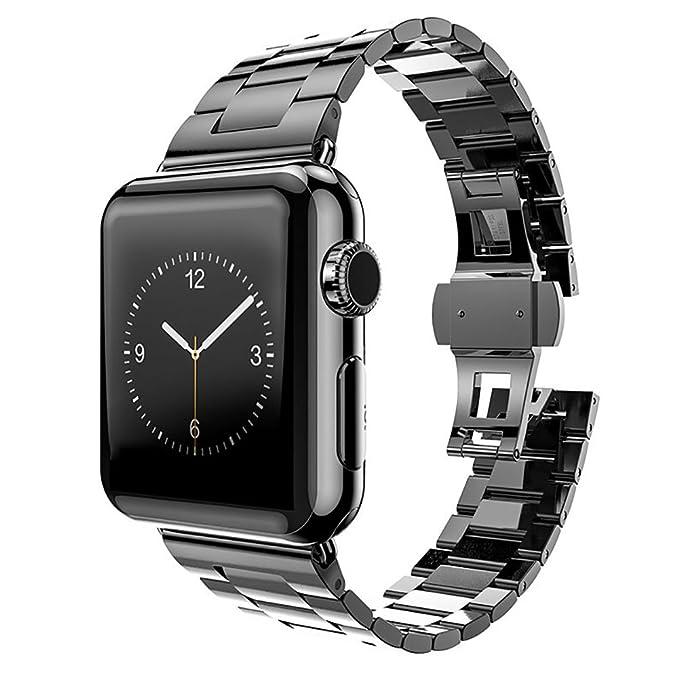MPTECK 42mm Correa de Reloj Banda de Acero Inoxidable Sólido Con Hebilla Reemplazo Repuesto para Smartwatch Apple Watch, Apple Watch II, Apple Watch ...