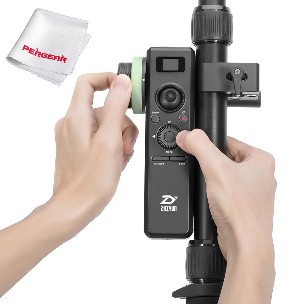 Zhiyun Crane 2 Motion Sensor Remote Control with Follow Focus 2.4G Wireless Control 25 Hours Runtime Visualized Parameters On OLED Screen by zhi yun
