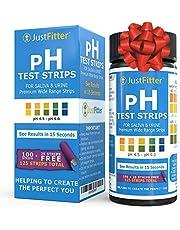 Tiras de prueba de pH para probar niveles alcalinos y ácidos en el cuerpo. Rastree y controle su nivel de pH usando saliva y orina. Obtenga resultados muy precisos en segundos. 125 tiras por botella