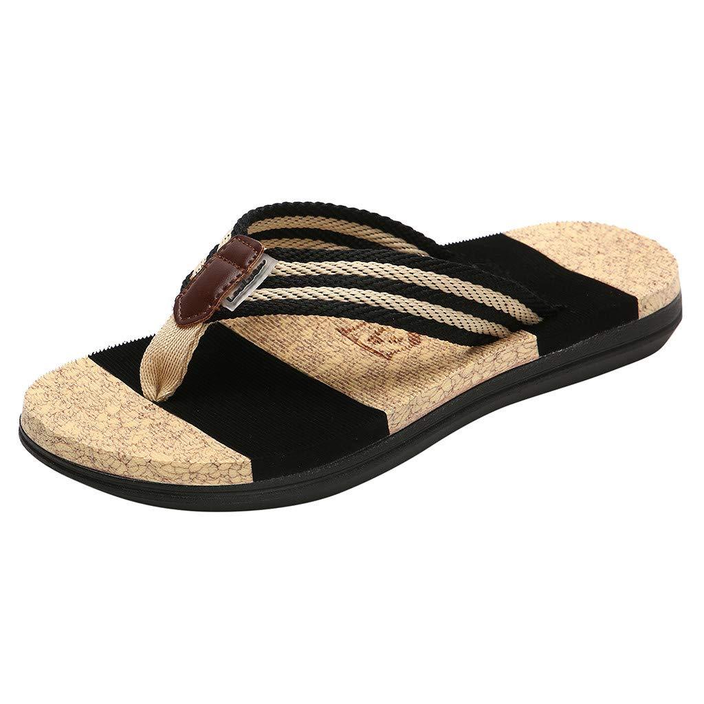 Luckhome Unisex Clogs Hausschuhe Muffin Unten Alltägliche Drag Pantolette Sommer Beach Schuhe Sandalen Für Damen Herren Damenmode Paare Casual Flache Flip-Flops Männer Strand Gestreifte
