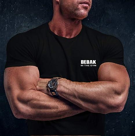 BEBAK allenamento top top allenamento top top top design ispirato Arnold Schwarzenegger T Shirt MMA Abbigliamento da palestra per uomo maglietta bodybuilding T shirt abbigliamento palestra